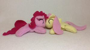 Pinkie Pie and Fluttershy by Bewareofkitty