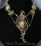 Crystal Butterfly Necklace - Gold by blackcurrantjewelry