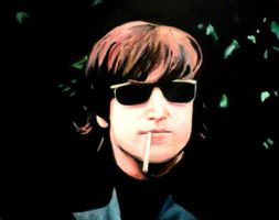 John Lennon Painting by goshnessmaggy