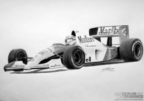 Ayrton Senna's Mclaren MP4-6 by SD1-art