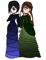 Princess Leila and Dollie Seraphina by Princess-Moony