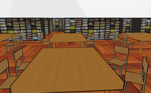 MMD liebrary OR bookstore by amiamy111