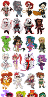 SO MANY CHIBIS by AgentDax