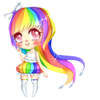 I love rainbows~! :ART TRADE: by Rainbow-tan