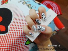 Black and white nails pt.2 by anacarolinaaf