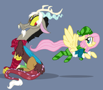 Discord And Fluttershy Winter Clothes by Jaw2002