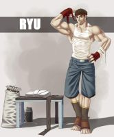 Ryu at the Gym by mystery79