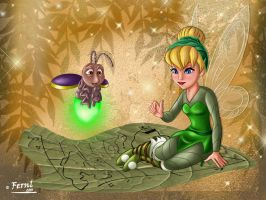 TINKERBELL AND FRIEND by FERNL