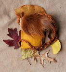 Horse Hide and Deerskin Pouch by lupagreenwolf