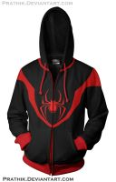 Ultimate Spiderman - Miles Morales Hoodie by prathik
