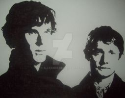 Sherlock and John by Allexaire