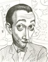 Caricature of Pee-wee Herman by Caricature80