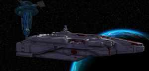 Establishing Shot - CSS Battleship by DrMcQuark