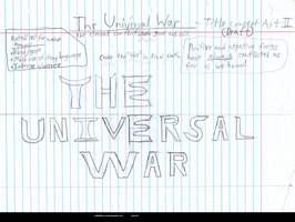 The Universal War - Rough title concept 2 by XSONOHX