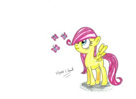 Filly Fluttershy by UlyssesGrant