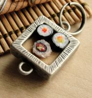 Sushi Pendant by fairchildart