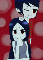 marshall lee y marceline by sora0cacahuate