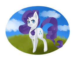 My chibi pony: Rarity by Tomat-in-Cup