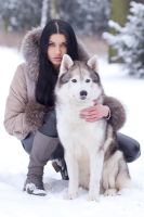 Beata and husky by fotomartinez