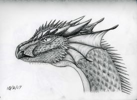 Dragon Head 3 by WindieDragon