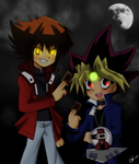Yugi and Judai by Railgun-Yugi