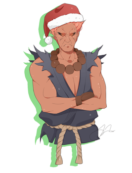 Christmas Akuma by drive-a-leaf