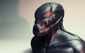3D Alien - Final Piece by MrChrizpy