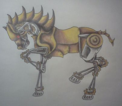 steampunk horse by AnythingButThat