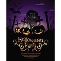Free vector Halloween party template by cgvector