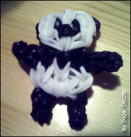 My panda made with loom bands by Sugar-Dazzle