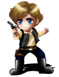 Han Solo Chibi by ExoroDesigns