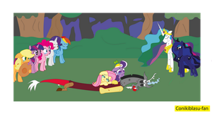 Fluttercord the death of Discord by CoNiKiBlaSu-fan