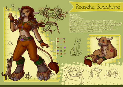 Character Sheet - Rosseka by LadyRosse