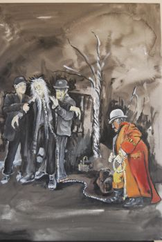 Waiting for Godot Acrylic 5 by mr-macd