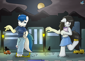 [Commission] Late Meet Up by GamefreakDX