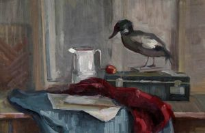 Still Life with a duck by shiroihibi