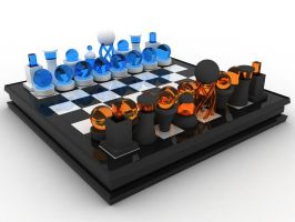 3D Glass Chess Fixed by Spielehorst