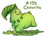 Pokemon #152 - Chikorita by oddsocket