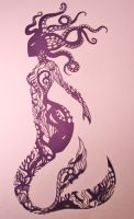 PAPER CUTTING Mermaid by Snowboardleopard