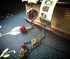 Owl Ribbon Bookmark by random-wish