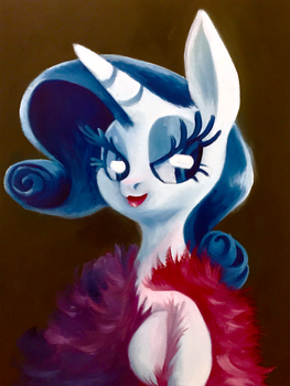 Portrait of Rarity by TalonsofIceandFire