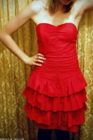 Vintage Red Dress by Glambition
