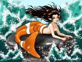 Clownfish Mermaid by Smurfbreeder