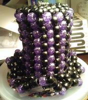 Black and Purple Mini Kandi Top Hat by anne-t-cats