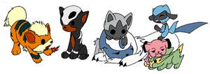 Pokemon - Puppies by NezuKunoichi