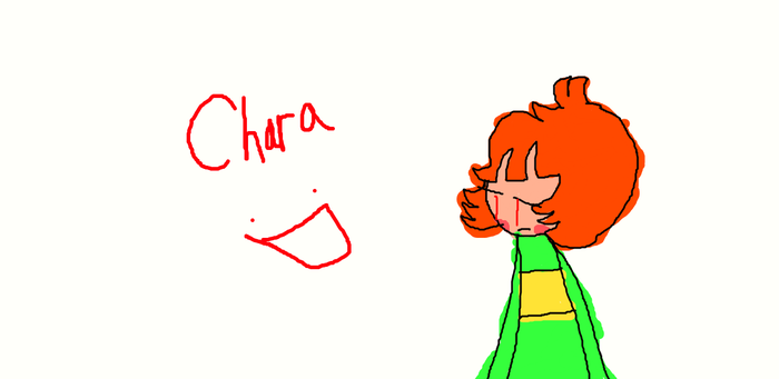 Trying to draw Chara with mouse by Kittygreenfox67