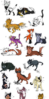 Warrior cat adopts OPEN!!!!!!! by lonacwana