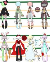 Halloween Outfits and Costumes {OPEN} by Homicidal-Bunny