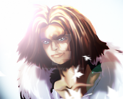 Squall Leonhart Photoshop painting by Gman20999