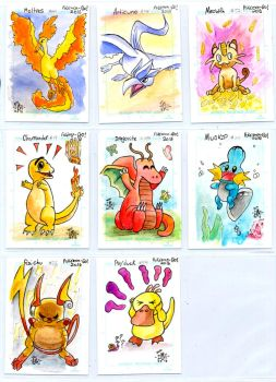Pokemon sketch card batch - Egli by SurfTiki